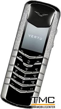 Vertu Signature White Gold Half Pave Diamonds